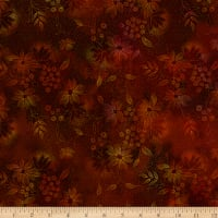In The Beginning Fabrics Seasons Night Flowers Spice