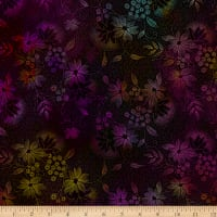 In The Beginning Fabrics Seasons Night Flowers Multi