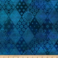 In The Beginning Fabrics Seasons Diamonds Blue
