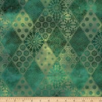 In The Beginning Fabrics Seasons Diamonds Green