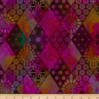 In The Beginning Fabrics Seasons Diamonds Multi