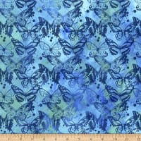 In The Beginning Fabrics Seasons Butterflies Blue