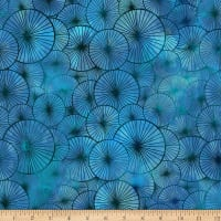 In The Beginning Fabrics Seasons Umbrellas Blue
