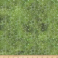 In The Beginning Fabrics Seasons Lace Green