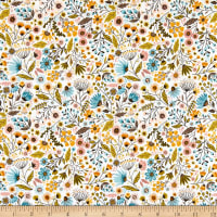Poppie Cotton Wanderings Meadow White