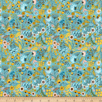 Poppie Cotton Wanderings Meadow Blue