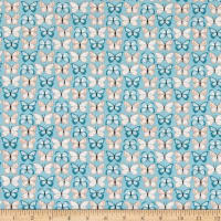 Poppie Cotton Wanderings Flutter Blue