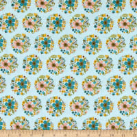 Poppie Cotton Wanderings Bloom Blue