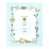"Poppie Cotton Wanderings 36"" Quilt Panel Blue"