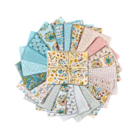 "Poppie Cotton Wanderings 18"" Fat Quarter Bundles Multi 21pcs"