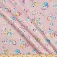 Cosmo Sea & Galaxies Metallic Sheeting Pink