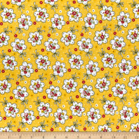 Lecien Retro 30's Child Smile Bouquet Yellow