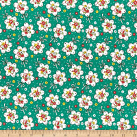 Lecien Retro 30's Child Smile Bouquet Green