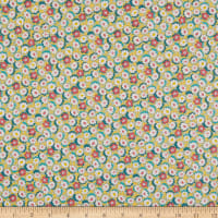 Lecien Retro 30's Child Smile Small Floral Yellow