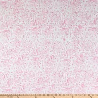 Maywood Studio Bejeweled Batiks Hearts and Flowers White/Pink