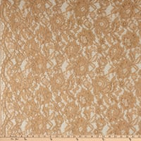 Telio Flora Corded Cotton Nylon Lace Floral Gold