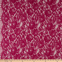Telio Flora Corded Cotton Nylon Lace Floral Magenta