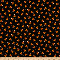 Maywood Studio Happy Jacks & Friends Flannel  Candy Corn Black