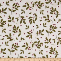 Maywood Studio Most Wonderful Time Flannel Holly Cream