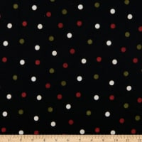 Maywood Studio Most Wonderful Time Flannel Big Dots Black/Green/Red