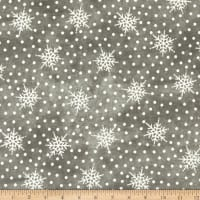 Maywood Studio Most Wonderful Time Flannel Falling Snow Gray