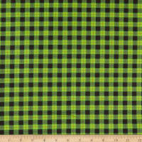 Maywood Studios We Whisk You A Merry Christmas!  Buffalo Plaid Black/Green