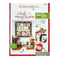 Maywood Studio We Whisk You A Merry Christmas!  Quilt Kit Black Embroidery Version