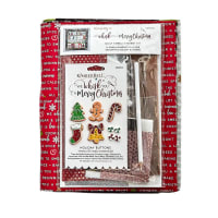 Maywood Studio We Whisk You A Merry Christmas!  Quilt Kit Black Sewing Version