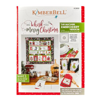 Maywood Studio We Whisk You A Merry Christmas!  Quilt Kit White Embroidery Version