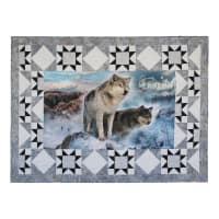 Hoffman Call Of The Wild Pre-Cut Border Kit Ice