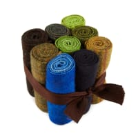 "In The Patch Designs Pre-Felted Hand Dyed Wool Cube O Curlers 4""x16"" Mother Earth 9 Pcs"