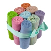 "In The Patch Designs Pre-Felted Hand Dyed Wool Cube O Curlers 4""x16"" Pastels 9 Pcs"