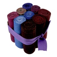 "In The Patch Designs Pre-Felted Hand Dyed Wool Cube O Curlers 4""x16"" Purples 9 Pcs"