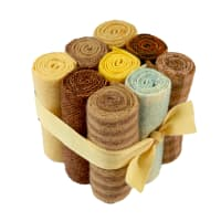 "In The Patch Designs Pre-Felted Hand Dyed Wool Cube O Curlers 4""x16"" Yellows 9 Pcs"