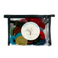 In The Patch Designs Pre-Felted Wool Pennies Circles Darks 74 Pcs