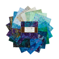 Kaufman Charm Squares Artisan Batiks Fancy Feathers Multi 42pcs