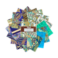 "Kaufman Charm Squares Treasures Of Alexandria 5"" Squares Jewel 42pcs"