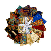 "Kaufman Treasures Of Alexandria 18"" Fat Quarters Multi 15pcs"