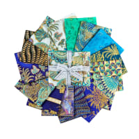 "Kaufman Treasures Of Alexandria 18"" Fat Quarters Jewel 15pcs"