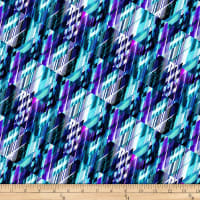 "Matrix 108"" Digital Wide Back Aqua/Violet"
