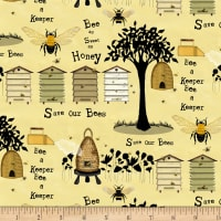 Bee A Keeper Various Bee Keeper Motifs Yellow