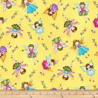 Fairy Land Allover Fairy Yellow