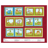 "Studio E A Jungle Story 36"" Book Panel Red"