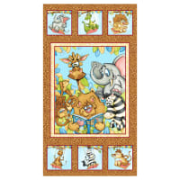 "Studio E A Jungle Story 24"" Banner Panel Ochre"