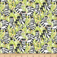 Studio E A Jungle Story Playful Zebras Green