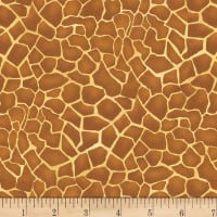 Studio E A Jungle Story Giraffe Skin Ochre