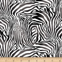 Studio E A Jungle Story Zebra Skin Black