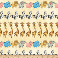 Studio E A Jungle Story Marching Animals Cream
