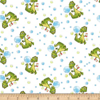 Studio E A Jungle Story Alligator Blowing Bubbles White