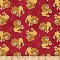 Studio E A Jungle Story Tossed Lion Red